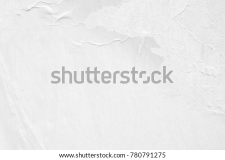 White blank crumpled paper texture background creased old poster texture placard backdrop surface empty space for text placard #780791275
