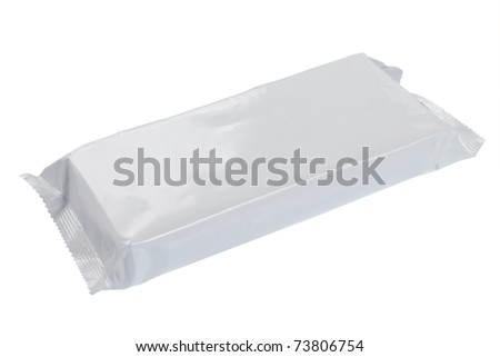 white blank foil packaging. plastic pack. ready for your design