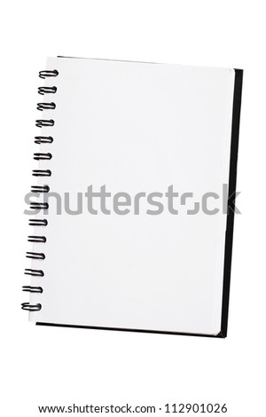 White blank note book - stock photo