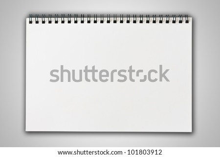 white blank note paper on gradient background