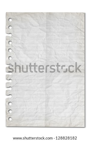 white blank old paper background