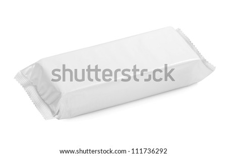 white blank package on white background