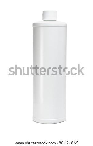 White blank plastic bottle on isolated background
