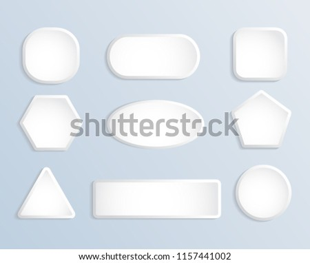 White blank square and round button stock set #1157441002