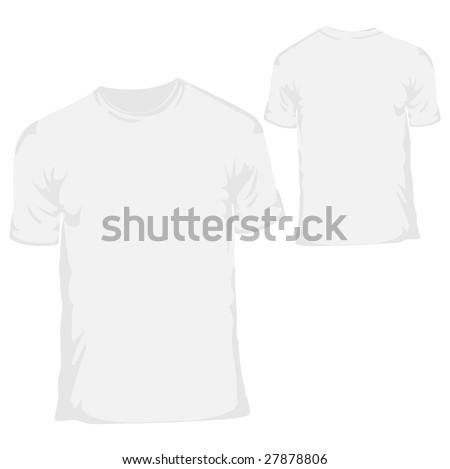 blank white shirt template. stock photo : White blank