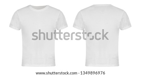 White Blank T-shirt Front and Back #1349896976