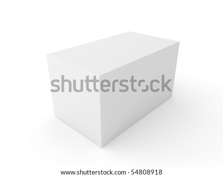 white block isolated on white background
