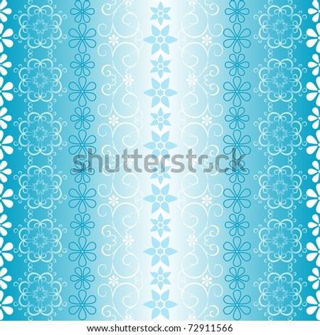 wallpaper white blue. stock photo : White-lue seamless striped christmas wallpaper with snowflakes and borders