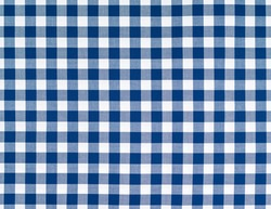 White blue squared pattern table cloth seen from top