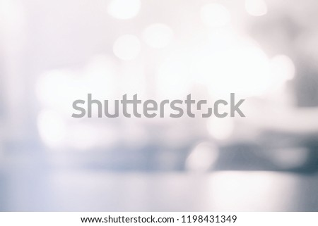 White Blurred Bokeh of Coffee Shop Background. #1198431349