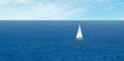 white boat in the sea