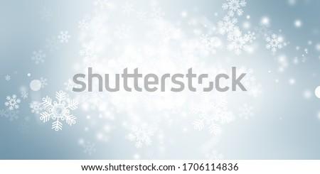 white bokeh blur background / Circle light on blue background / abstract light background