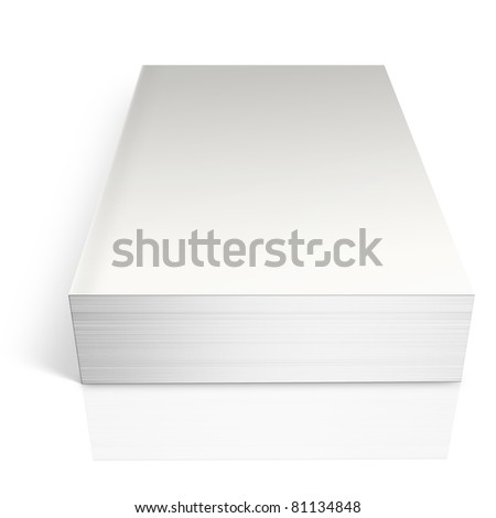 White book.  Isolated on white.