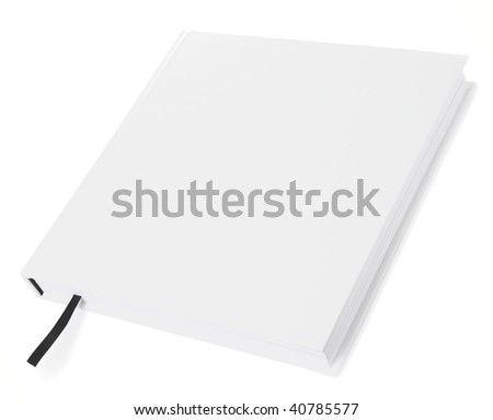 White book isolated on white background - design element