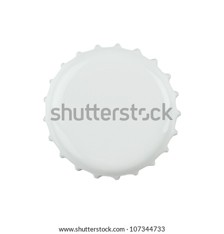 White bottle cap isolated on white background with clipping path