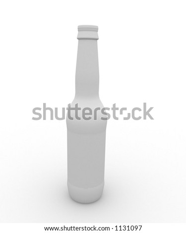 white bottle with room for text and label on product