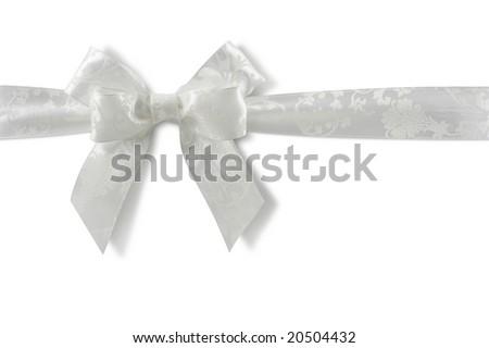White bow isolated on white background