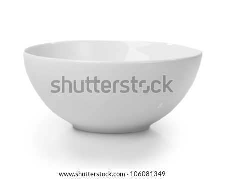 Shutterstock White bowl isolated on white background