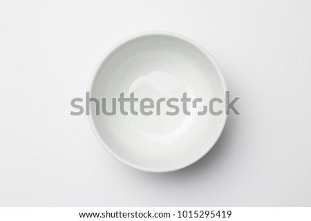 White bowl on white background Stock photo ©