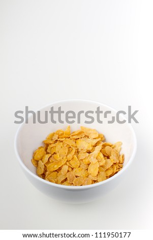 white bowl with cornflakes