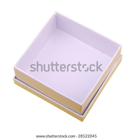 white box isolated on white - stock photo