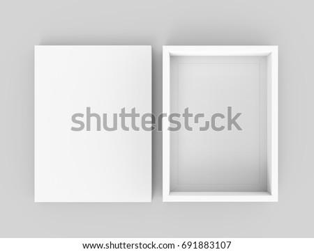 white box mockup  blank box...