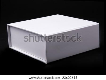 white box on a black background