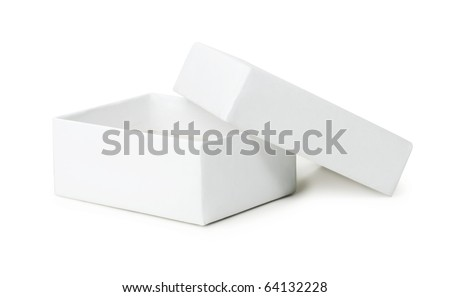 White box on a white background