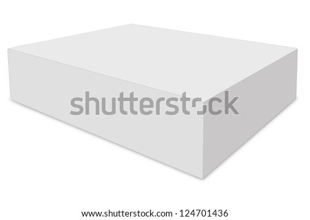 White box on isolated background.( with clipping path )