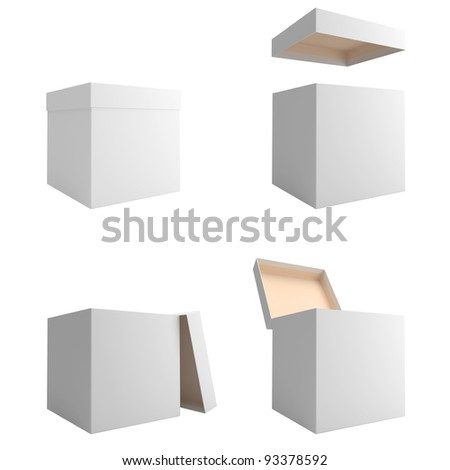 White boxes are isolated on a white background