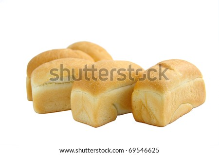 white bread - stock photo