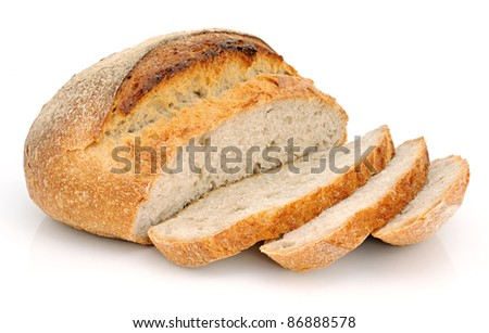 White bread from wheat flour