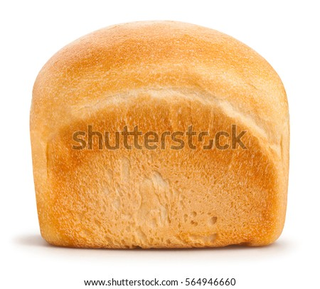 white bread loaf isolated