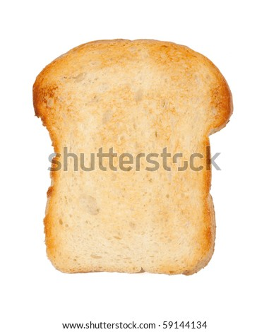 White bread toast. Isolated on white background