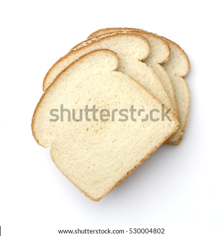 white bread white background #530004802