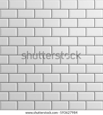 white brick background, 3d rendering