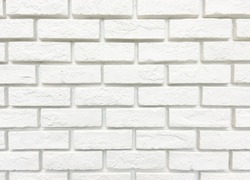 white brick construction wallpaper for exterior and interior design building. rough crack texture of stonewall seamless pattern. seamless modern rectangle grid tile material in brick shape wall