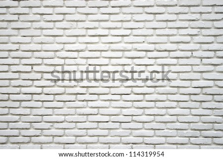 White brick wall