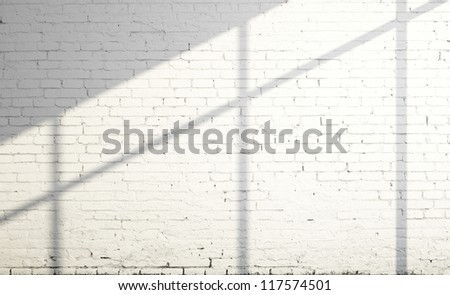 white brick wall and sunlight