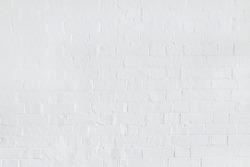White brick wall background, blank white painted bricks texture, UK