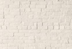 White brick wall background. Brick wall background