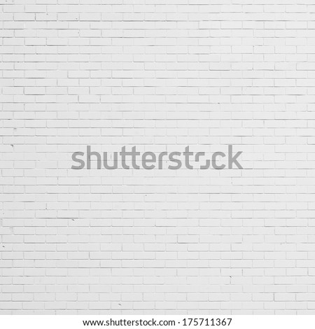 White Brick Wall Background, Texture
