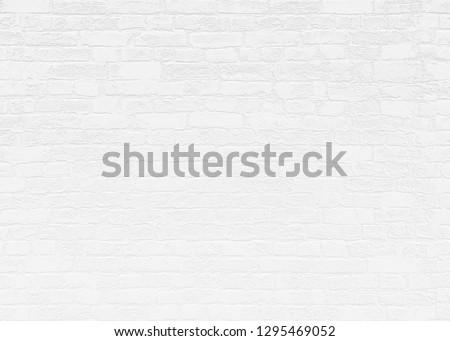 White Brick Wall Background Texture 3D Render