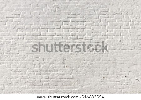 White Brick Wall Background. Whitewash Brick Wall Seamless Texture. Abstract White Backdrop. White Brickwork Art Wallpaper. Old Lime Washed Wall Structure. White Painted Retro Wall Surface. #516683554