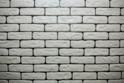 White brick wall backgrounds, brick room, interior texture, wall background. Stones. Place for text.