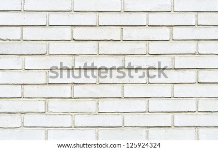 White brick wall for background usage
