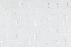 White brick wall texture, brickwall background, painted brickwork facade, UK