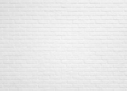White brick wall texture for pattern background.