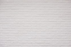 white brick wall texture for pattern background. copy space. High quality photo