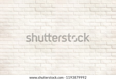 White brick wall texture, modern style background, industrial architecture detail , or display or montage of product.